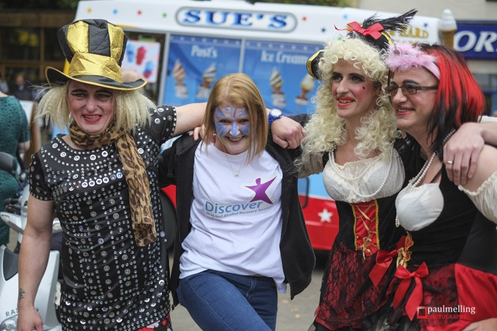 Having fun at the city's Pride event in previous years Pic: Paul Melling