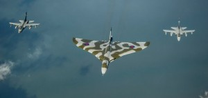 Formation flying: The Vulcan will roar for one of its last flights