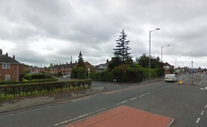 The junction of Blackpool Road and Layton Road where the incident took place