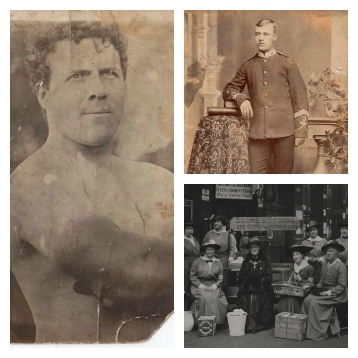From left clockwise: Joseph Garstang, John Gregson and Beatrice Blackburn