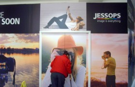 Jessops shop front behind boards in the shopping centre Pic: Tony Worrall