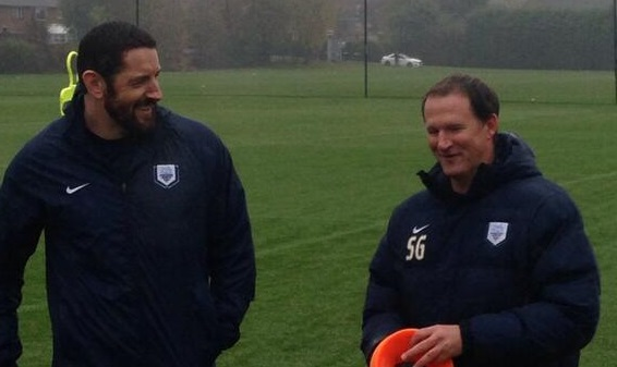 Wade Barrett trains with PNE