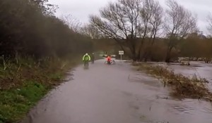 The Ribble has burst its banks along parts of the Guild Wheel