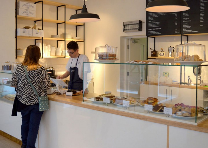 The serving counter in Ham and Jam