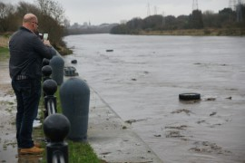 The Ribble in flood down at the Bullnose on Boxing Day Pic: Roger Goodwin