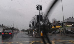 Traffic lights out on Saturday morning on Garstang Road