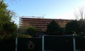 A view of the Jubilee Court development from a resident's garden