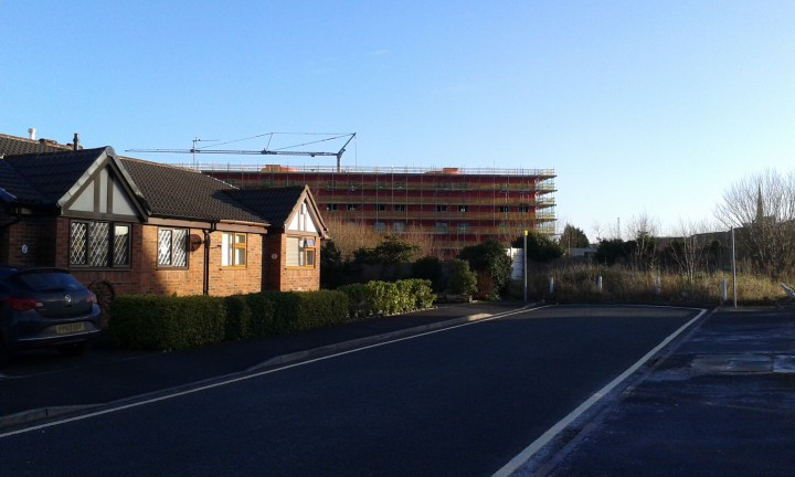 The student flats now dominate the skyline as you enter St Walburges Gardens