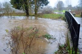 Savick Brook bursting its banks in Haslam Park Pic: Tony Worrall