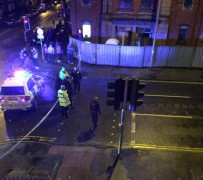 Police cordon in place in Deepdale Road Pic: Shoaib Patel