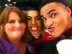 Mum Teresa with Carly and Anthony Ogogo