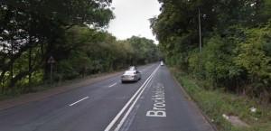 Brockholes Brow where the car was found ablaze Pic: Google