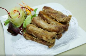 Garlic pork ribs at X Kitchen