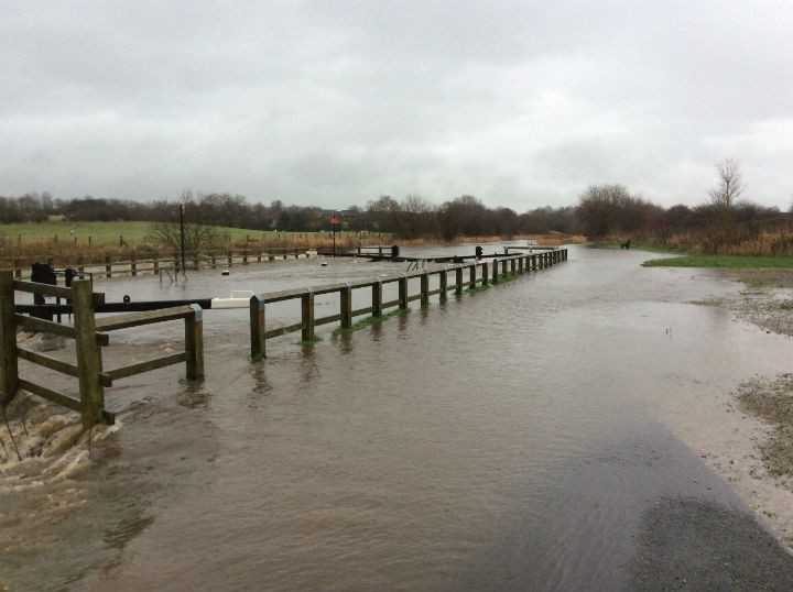 Showing the flooding in Lea Pic: Ben Robinson