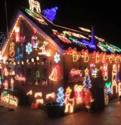 The Lea house with this year's Christmas display