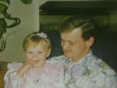 Steven Whitney pictured in 1991 with his daughter Stephanie