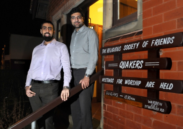 Arfan Iqbal, left and Nadeem Ashfaq, from the Light Foundation had offered to meet EDL leaders Pic: LEP/David Hurst