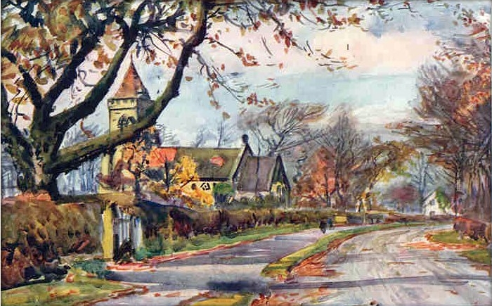 1921 Watercolour by Albert Woods. (1871-1944)