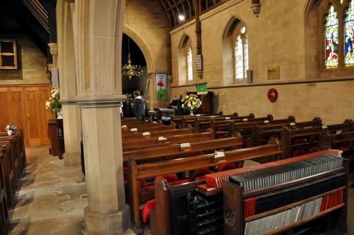 Interior view of Grimsargh Church