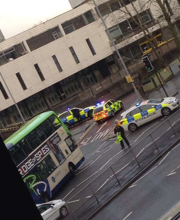 Police on the Ring near Market Hall car park. Credit: Ella Worthy