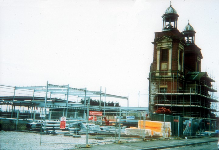 The construction work at St Augustines