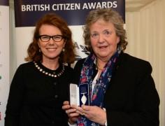 Alison Eddy presents Stella Hayes with her award