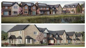 How the Cottam Hall homes in the Waterside part of the development will look