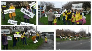 The Preston Happiness Project near the Ringway on Saturday