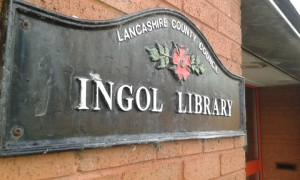Ingol Library sign