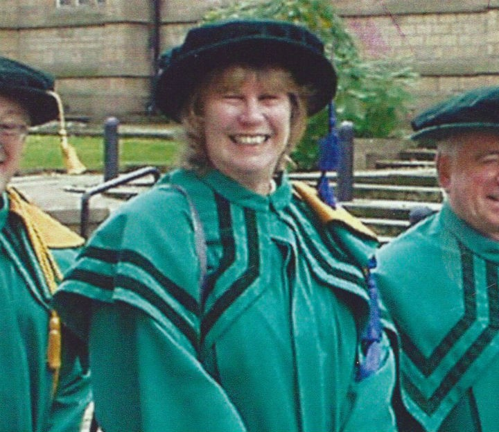 Kath in her Select Vestry robes