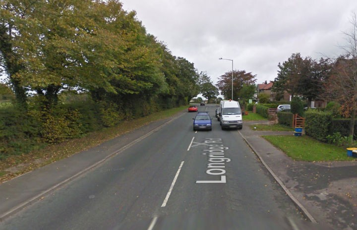 Part of Longridge Road will have temporary traffic lights during the February half-term Pic: Google