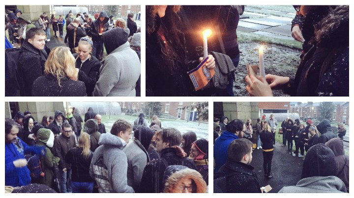 Students gather to pay their respects to Alan Rickman