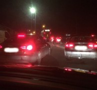 Queues on the A59 near the San Marco restaurant Pic: Andy Hilbert