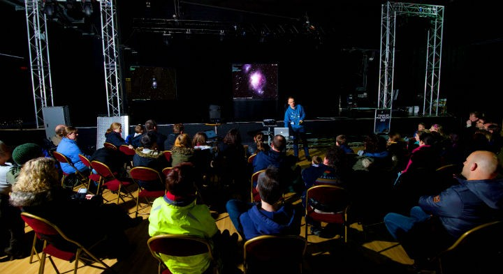 Talk being given as part of UCLan's stargazing event