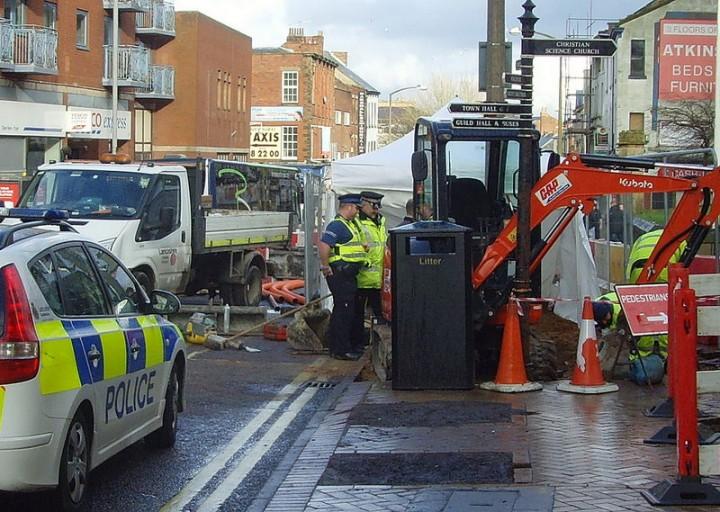 More police on the scene near Preston Minster Pic: Tony Worrall