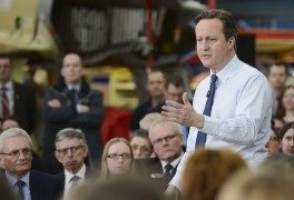David Cameron at BAE Systems in Warton on Thursday 25 February