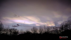 Paul Melling captured the nacreous clouds in Preston