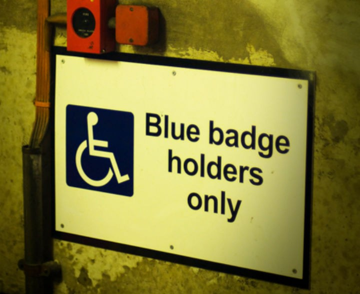 Blue badges allow those with a disability to park in easy-access spaces Pic: lyke_