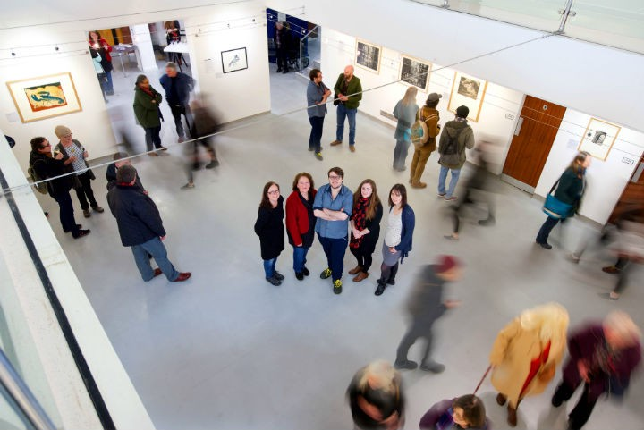 The UCLan artists who are showcasing their work at the exhibition