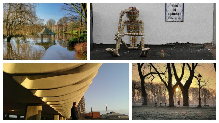 Four of the entries so far for the exhibition