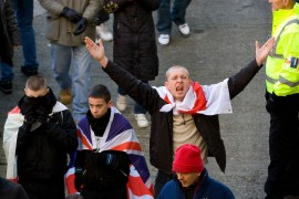 English Defence League in Preston in 2010 Pic: pixel.eight