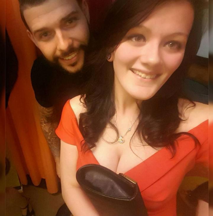 Katie with her tattoo fixer selfie