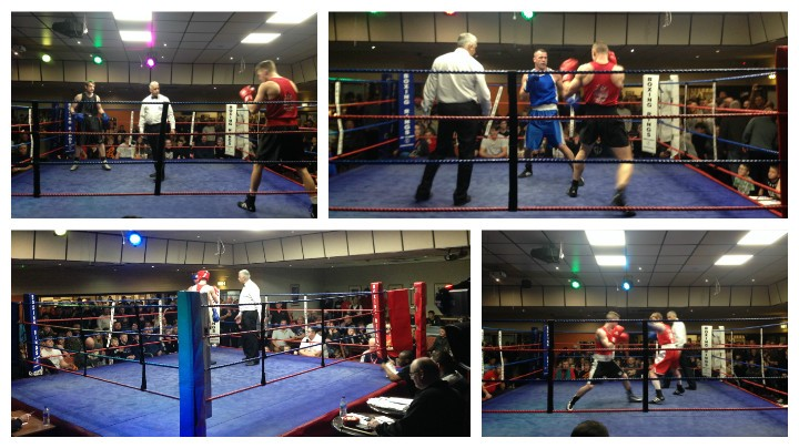 Action shots from the charity boxing match Pics: Amy Farnworth