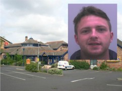 Gary Hall (inset) is wanted in connection with the attack in a pub car park