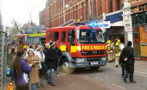 Fire crews on the scene at Market Street Chippy Pic: Paul Cleaver