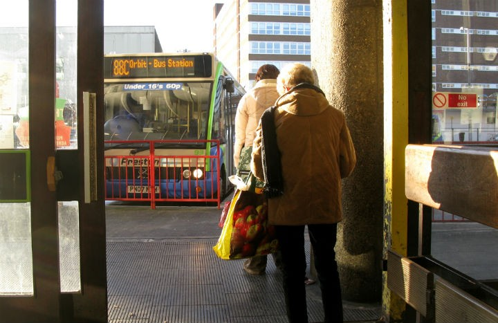 Waiting for the Orbit service at Preston Bus Station Pic: George D Thompson