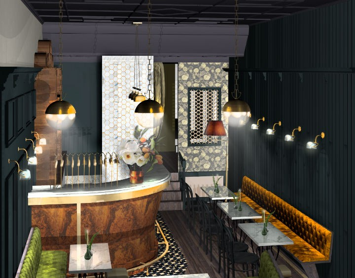 Artist impression of how Plau bar may look Pic: Rosanna Peploe