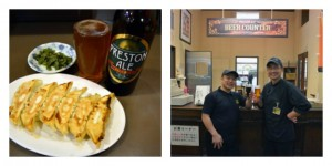 The Preston Ale served up and its brewing counter Pics: Japan Beer Times