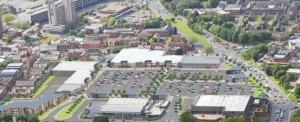 An overhead view of how the Queen Street retail park may look