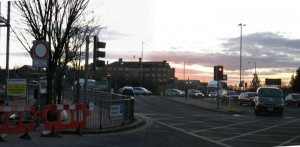 The Ringway junction where the cycle lane works are to take place Pic: George Thompson